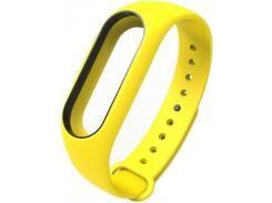 Ремінець для фітнес браслету Xiaomi Mi Band 2 Yellow