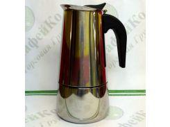 Кофеварка гейзерная Unique UN-1902 (kpss-6) нержавейка