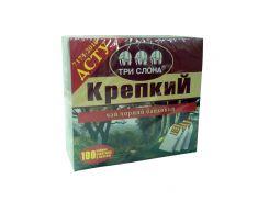 Чай Три слона Крепкий черн. 100*1,5г с/н (16)