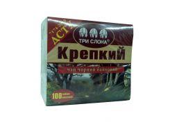 Чай Три слона Крепкий черн. 100*1,5г б/н (20)