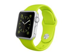 Apple Watch 38mm Silver Aluminum Case with Green Sport Band (MJ2U2)