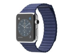 Apple Watch 42mm Stainless Steel Bright Blue Leather Loop (MJ462)