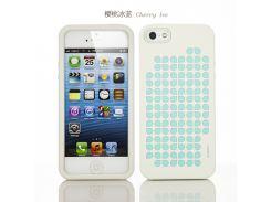 Силиконовый чехол iMobile Impression Laser Series для Apple iPhone 5/5S (Cherry / Blue)