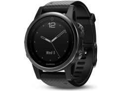 Garmin Fenix 5S Black Sapphire with Black Band (010-01685-10)