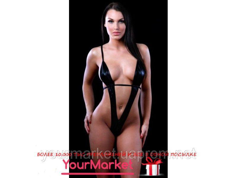 fcd87c29c7c4 Откровенное черное виниловое боди сексуальное белье купить недорого ...