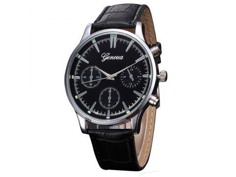 Мужские часы Geneua 9820 черные Чернигов