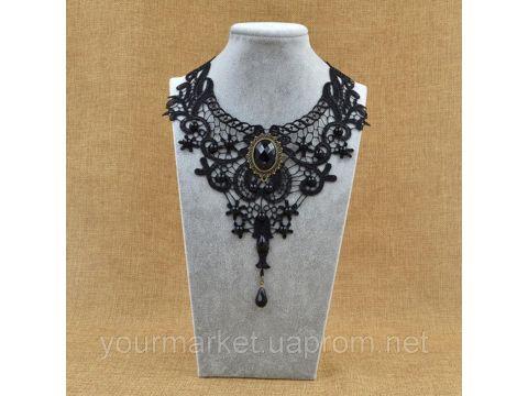 Кружевной чокер винтажное ожерелье колье ретро стиль Чернигов