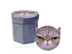 Корзина-пуфик для игрушек 3D-1702 (20шт) в пакете 30*30*29см
