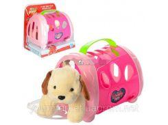 Мягк.игрушка 366AB (36шт/2) Собачкка в переноске 21*20*14 см