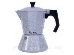 Гейзерная кофеварка Con Brio  для инукц.плиты 6ч алюм.