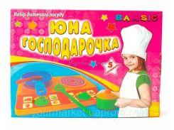"""Набір посуду """"Юна господарочка"""" в коробці (5 ел.), арт. 048, Bamsic"""