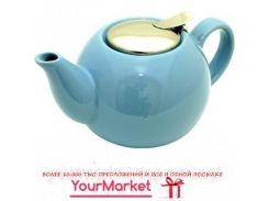 Чайник заварочный керамический Fissman 750 мл голубой, 9232 F