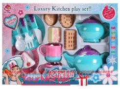 Посуда SK77B (48шт) чашки, блюдца,чайник,сахарница,вилка,ложка,нож,продукты..в кор.