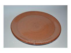 Тарелка без борта 30 см коричневая C-11408