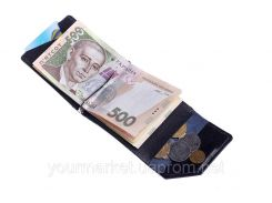 Зажим для денег Soldi, глянец, синий,120670GP