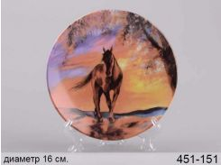 Тарелка декор Конь 451-151
