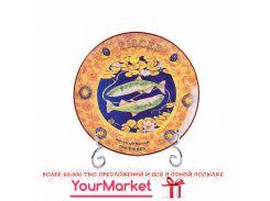 Тарелка декоративная Рыбы 20 см 356-075-1-12