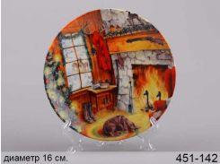Тарелка декоративная Уют 16 см 451-142