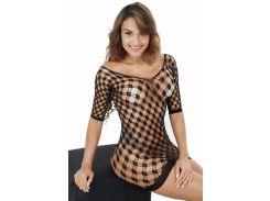 Эротическое платье сетка черного цвета Эммануель