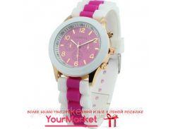 Наручные часы Geneva Dual color кварцевые малиновые
