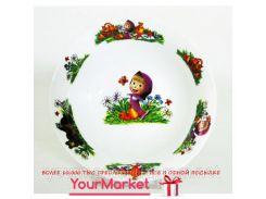 Тарелка суповая Маша и медведь 16859VT