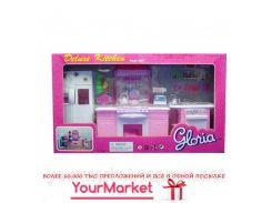 "Кухня ""Gloria"" 9986GB (6шт) холодильник, газ.плита, мойка,…в кор. 56*32*10см"
