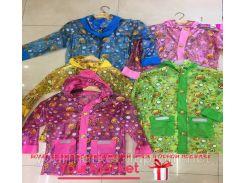 Дождевик CLG17015 (60шт) 5 видов, со светоотражателями, с капюшоном,карманчиками 2 размера(L,М)