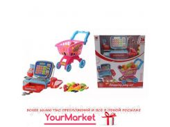 """Набор """"Магазин"""" 2388 (6шт) касса,калькулятор,микрофон,весы,тележка,продукты, в кор. 42*36*25см"""