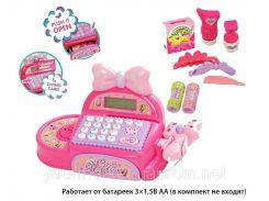 Кассовый аппарат FS-35562 (1452784)(12шт/2) батар,свет,звук,сканер,калькулятор,аксесс, в кор33*14*21
