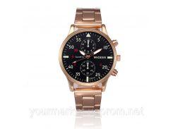 Мужские часы браслет MiGEER 9753 цвет красное золото