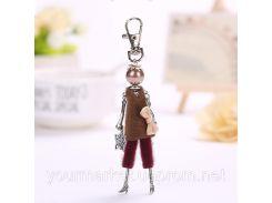 Кукла француженка Катрин кулон, подвеска на сумку клатч кошелек