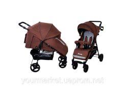 Коляска прогулочная CARRELLO Strada CRL-7305 Brown резиновые колеса /1/