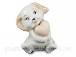 Фигурка декоративная Щенок с сердцем 11 см 919-136