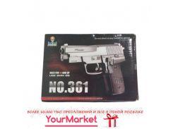 Пистолет 361  пульки в коробке 16*11см
