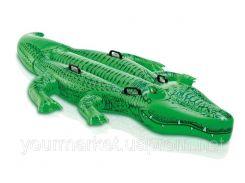 """Надувной плотик  """"Крокодил"""" 58562 винил,с ручками"""