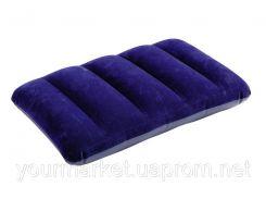 Подушка надувная 43*28*9см синяя