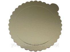 Подложка круглая для торта Empire 160 мм золото тонкая 0225