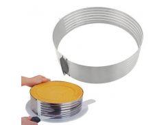 Кольцо разъемное для нарезки бисквитов 24-30 см 17347VT