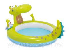 """Бассейн детский """"Крокодил"""" с разбрызгивателем 198*160*91см, 57431"""