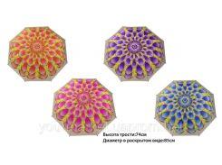 """Зонт """"Цветок"""" CLG17092  4 вида, в пак."""