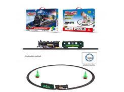 Железная дорога 1608-2  батар., 210дет., поезд, 1 вагон, свет, звук, в кор.45*7*30см