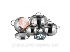 Набор кастрюль посуды  Vinzer Majestic Optima 9 пр VZ 89041