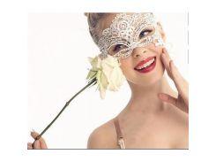 Маска белая ажурная, карнавальная, для эротических игр