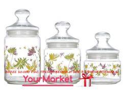 Набор банок Luminarc Crazy Flowers (0,5л,0,75л,1л) 3 пр, N1632/H9942