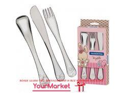 Набор столовых приборов Tramontina BABY Le Petit pink 3 пр. 66973/005