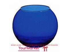 Ваза круглая Pasabahce Enjoy 8 см синяя, 43407