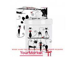 Банка для сыпучих продуктов 700 мл Черная кошка 6922-12