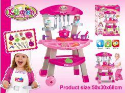 """Набор """"Кухня"""" 661-81  свет-звук,посудка, приборы,продукты,плита"""