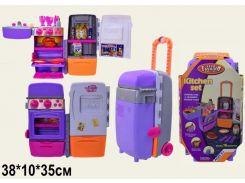 Холодильник-чемодан 9911 батар(3АА),  мойка,духовка,на колесах,продукт, посуда