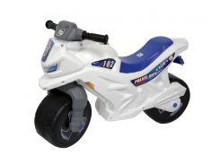 Мотоцикл 2-х колісний з сигналом (білий), арт. 501в.3 БЕЛ, Орион